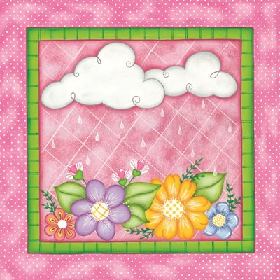 Clouds & Flowers art print by Lisa Kennedy for $35.00 CAD