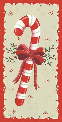 Vintage Candy Cane art print by Lisa Kennedy for $52.50 CAD