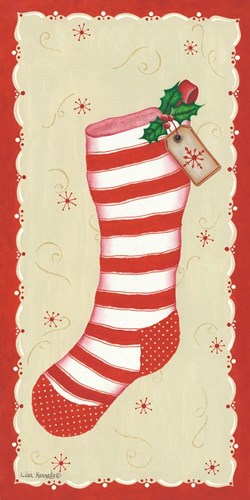 Vintage Stocking art print by Lisa Kennedy for $32.50 CAD