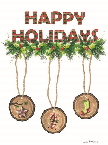 Happy Holidays art print by Lisa Kennedy for $41.25 CAD