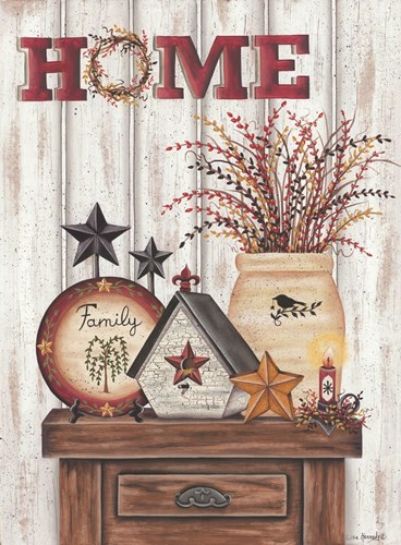 Home & Family art print by Lisa Kennedy for $41.25 CAD