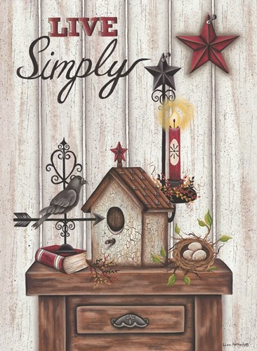 Live Simply art print by Lisa Kennedy for $41.25 CAD
