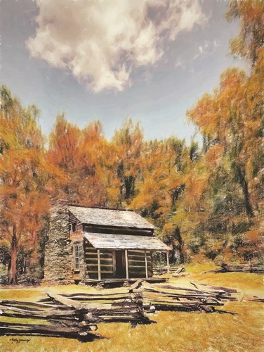 Cabin in the Woods art print by Kathy Jennings for $41.25 CAD