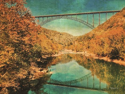 New River Gorge Bridge art print by Kathy Jennings for $41.25 CAD
