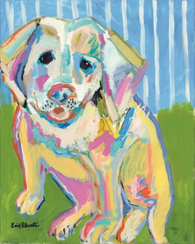 A Labrador Puppy Smile art print by Kait Roberts for $56.25 CAD