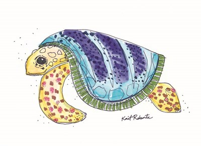 T is for Turtle art print by Kait Roberts for $37.50 CAD