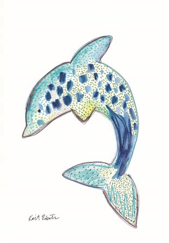 D is for Dolphin art print by Kait Roberts for $42.50 CAD