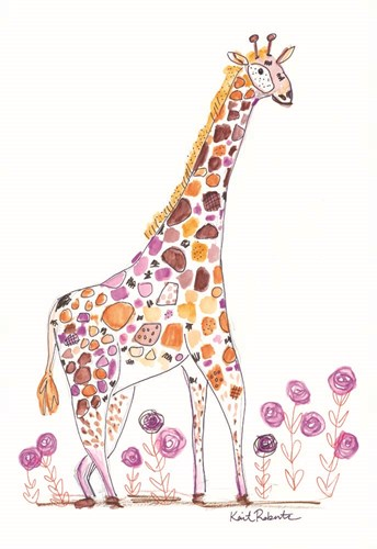 Giraffe, Giraffe, Make Me Laugh art print by Kait Roberts for $43.75 CAD