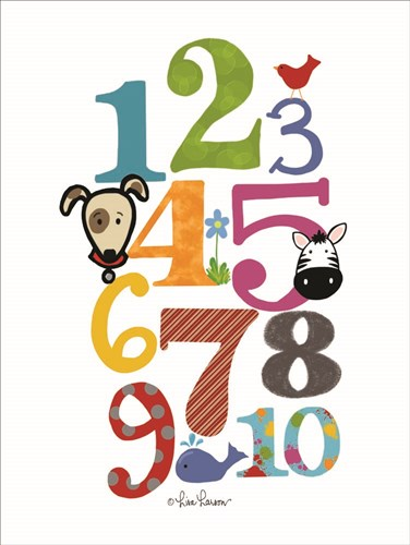 Colorful Numbers art print by Lisa Larson for $41.25 CAD