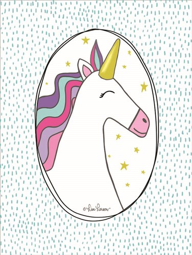 Unicorn I art print by Lisa Larson for $41.25 CAD