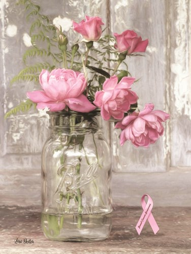 Pink Roses for Breast Cancer Awareness art print by Lori Deiter for $41.25 CAD