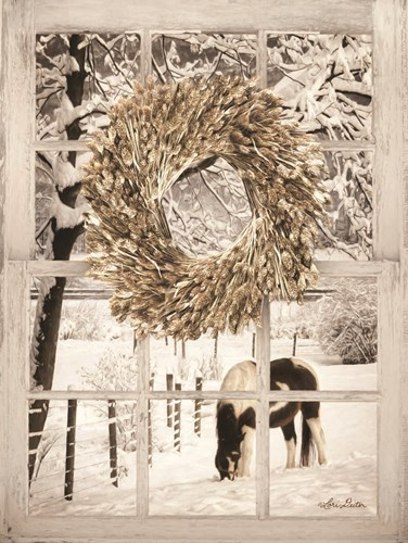Winter Horse Window View art print by Lori Deiter for $41.25 CAD