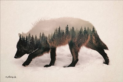 Wolf art print by Andreas Lie for $43.75 CAD