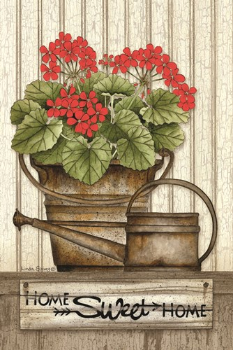 Home Sweet Home Geraniums art print by Linda Spivey for $43.75 CAD