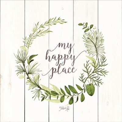 My Happy Place Wreath art print by Marla Rae for $35.00 CAD