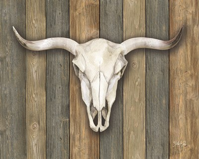 Cow Skull II art print by Marla Rae for $56.25 CAD