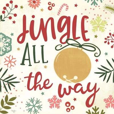 Jingle All the Way art print by Mollie B. for $35.00 CAD