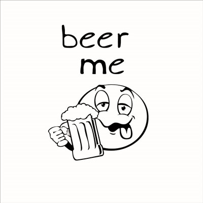 Beer Me art print by Lauren Rader for $48.75 CAD