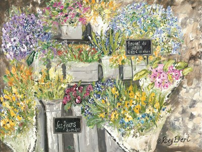 The French Flower Market art print by Roey Ebert for $41.25 CAD