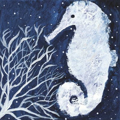 Midnight Seahorse art print by Roey Ebert for $35.00 CAD