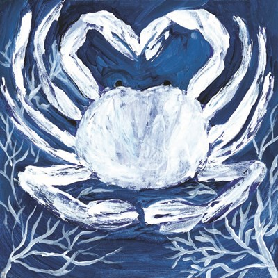 Midnight Ghost Crab art print by Roey Ebert for $35.00 CAD