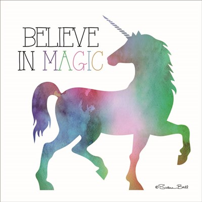 Believe in Magic Unicorn art print by Susan Ball for $35.00 CAD