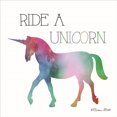 Ride a Unicorn art print by Susan Ball for $35.00 CAD