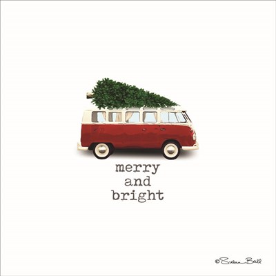 Merry And Bright Christmas art print by Susan Ball for $35.00 CAD