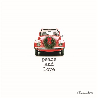 Peace and Love Christmas art print by Susan Ball for $35.00 CAD