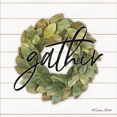 Gather Wreath art print by Susan Ball for $35.00 CAD
