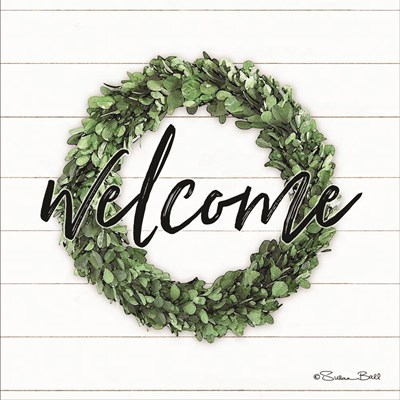 Welcome Wreath art print by Susan Ball for $35.00 CAD