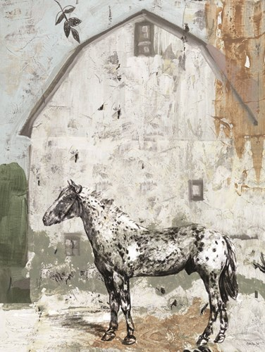Barn with Horse art print by Stellar Design Studio for $53.75 CAD