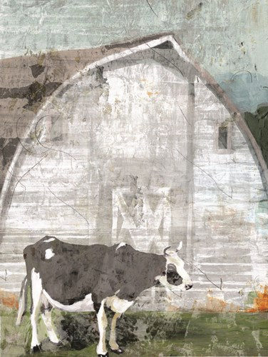 Barn with Cow art print by Stellar Design Studio for $53.75 CAD