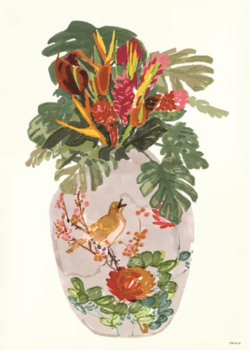 Tropical Vase I art print by Stellar Design Studio for $55.00 CAD