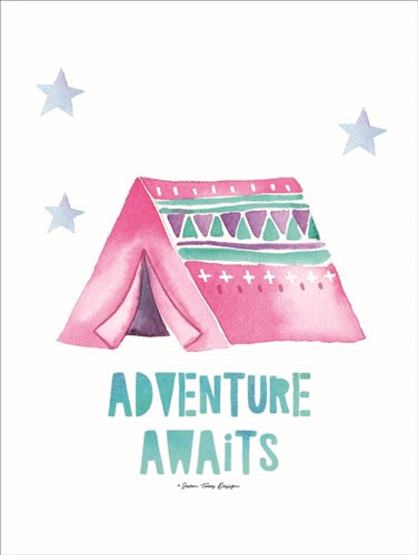 Adventure Awaits art print by Seven Trees Design for $41.25 CAD