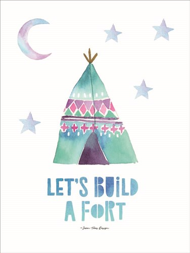 Let's  Build a Fort art print by Seven Trees Design for $41.25 CAD
