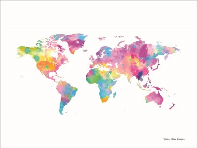 Watercolor World art print by Seven Trees Design for $41.25 CAD