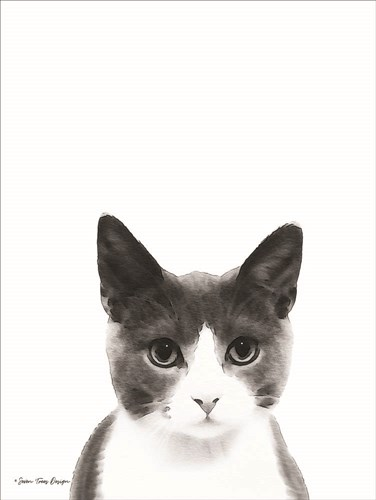 Watercolor Cat art print by Seven Trees Design for $41.25 CAD