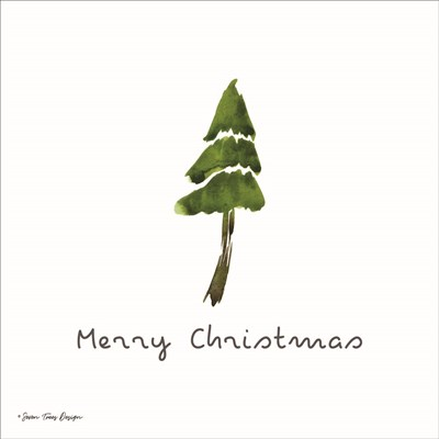Merry Christmas art print by Seven Trees Design for $35.00 CAD