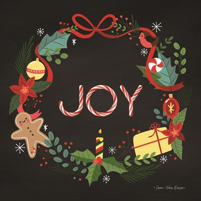 Peppermint Joy art print by Seven Trees Design for $35.00 CAD
