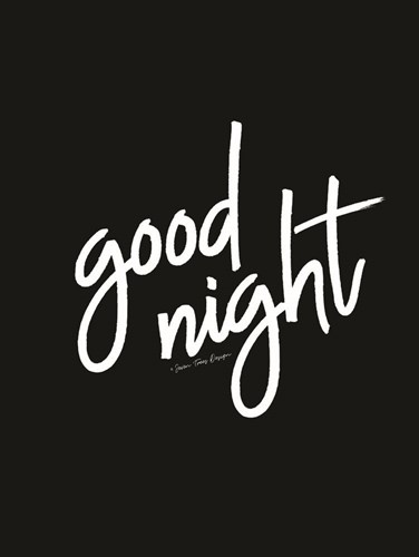 Good Night art print by Seven Trees Design for $41.25 CAD