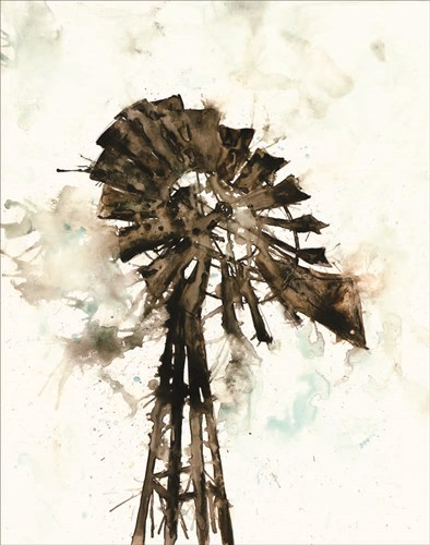 Watercolor Windmill art print by White Ladder for $40.00 CAD