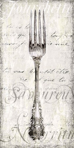 Decorative Fork art print by Tandi Venter for $32.50 CAD