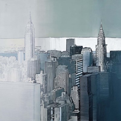 Chrysler and Empire State Buildings art print by Joan Farr for $121.25 CAD
