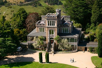 Aerial view of Larnach Castle, Dunedin, New Zealand art print by David Wall / Danita Delimont for $91.25 CAD