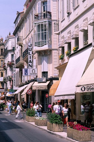 Shopping Scenic, Cannes, France art print by Bill Bachmann / Danita Delimont for $78.75 CAD