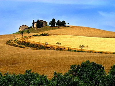Italy, Tuscany, Farmhouse And Fields art print by John Ford / DanitaDelimont for $45.00 CAD