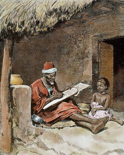 An Old Man With Child French Sudan 1893 art print by Prism / DanitaDelimont for $45.00 CAD
