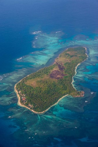 Aerial Of Little Island In Tonga, South Pacific art print by Michael Runkel / DanitaDelimont for $55.00 CAD