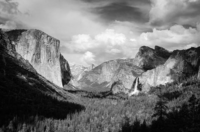 Panoramic View Of Yosemite Valley (BW) art print by Russ Bishop / DanitaDelimont for $68.75 CAD